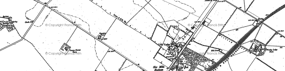 Old map of Westley Bottom in 1885