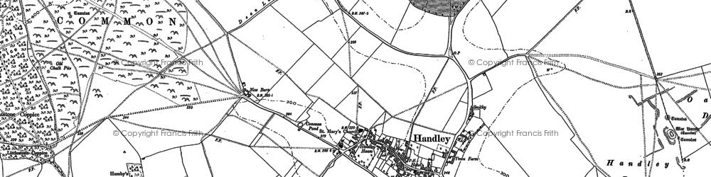 Old map of Wyke Down in 1900