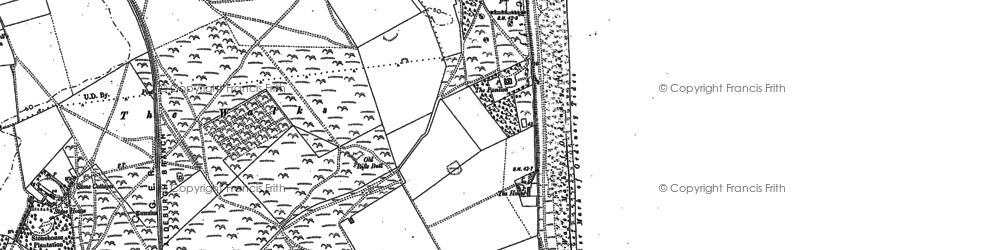 Old map of Sizewell in 1882