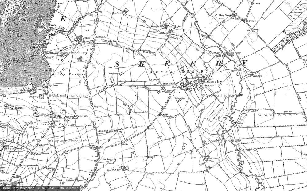Old Map of Historic Map covering Abbey Close in 1891