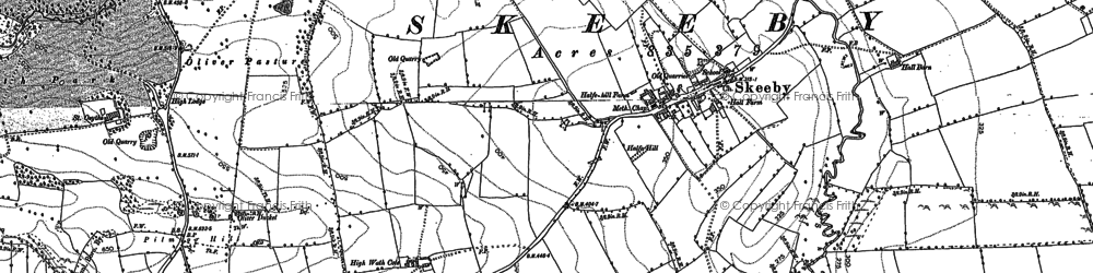 Old map of Abbey Close in 1891