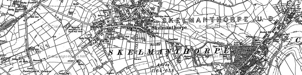 Old map of Skelmanthorpe in 1892
