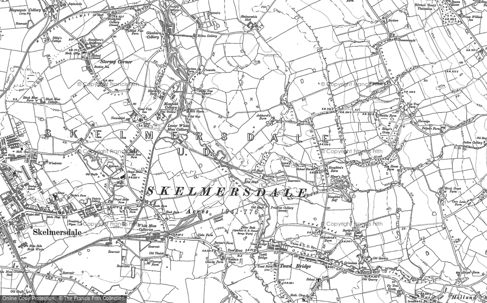 Old Map of Historic Map covering Ashurst in 1892