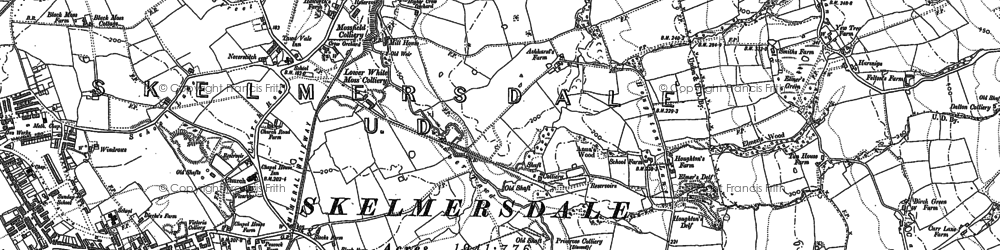 Old map of Birch Green in 1892