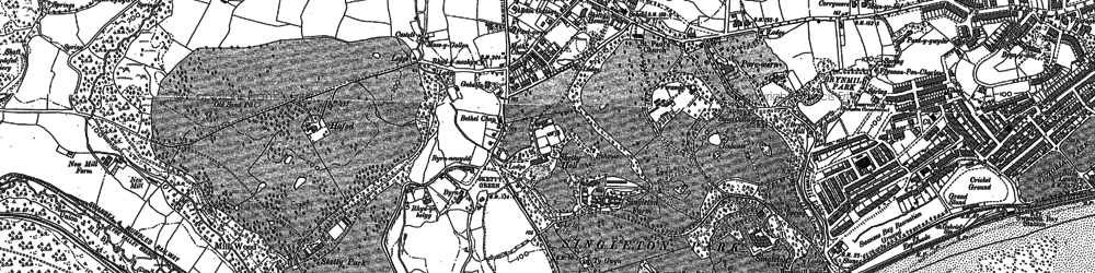Old map of Carnglas in 1897