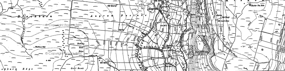 Old map of Thwaite Common in 1891
