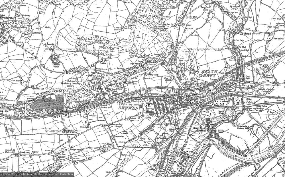 Map of Skewen, 1897