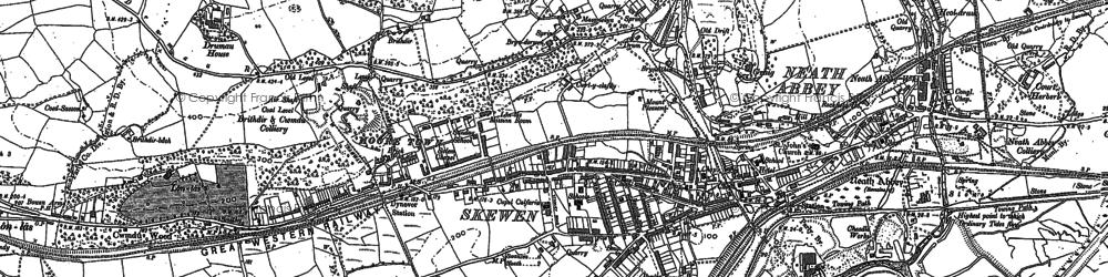 Old map of Skewen in 1897