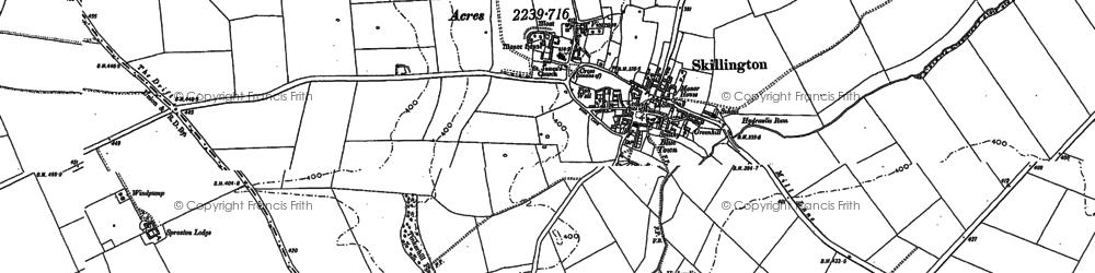 Old map of Skillington in 1887