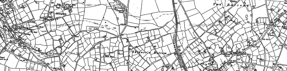 Old map of Menagissey in 1879