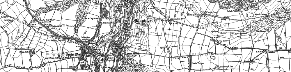 Old map of Skinningrove in 1893