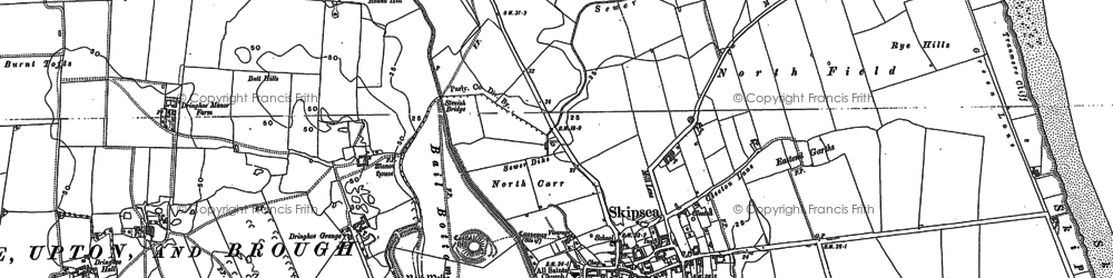 Old map of Skipsea in 1890