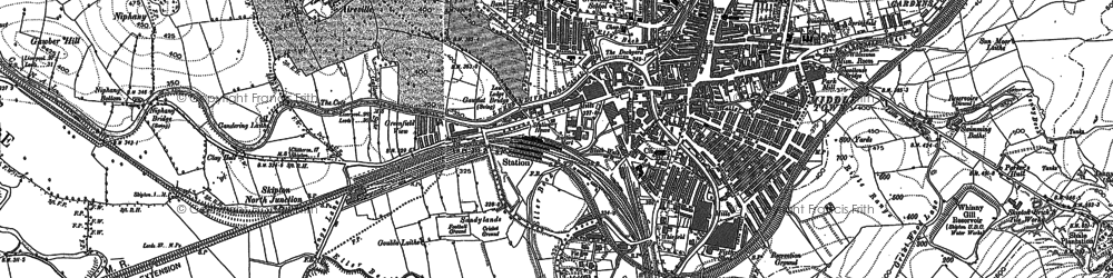 Old map of Aireville Park in 1893