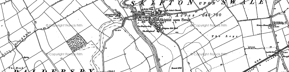 Old map of Leys in 1890