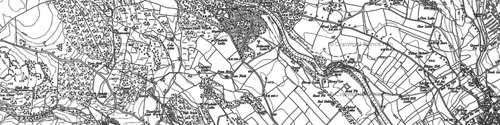 Old map of Wood Nook in 1907