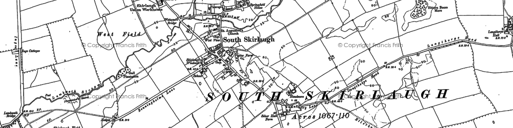 Old map of Skirlaugh in 1889