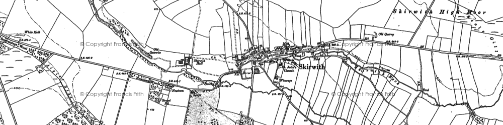 Old map of Aigill Sike in 1898