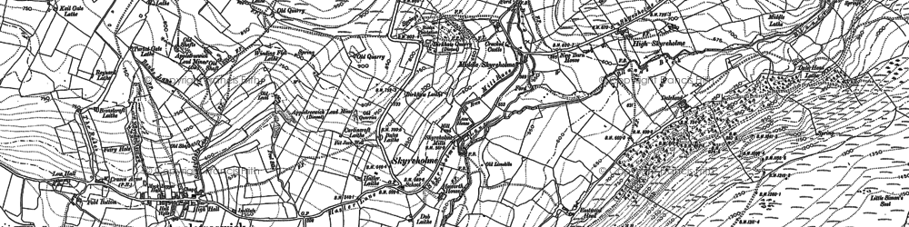 Old map of Barden Fell in 1907