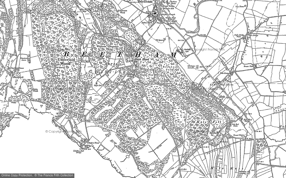 Old Map of Historic Map covering Leighton Ho in 1911
