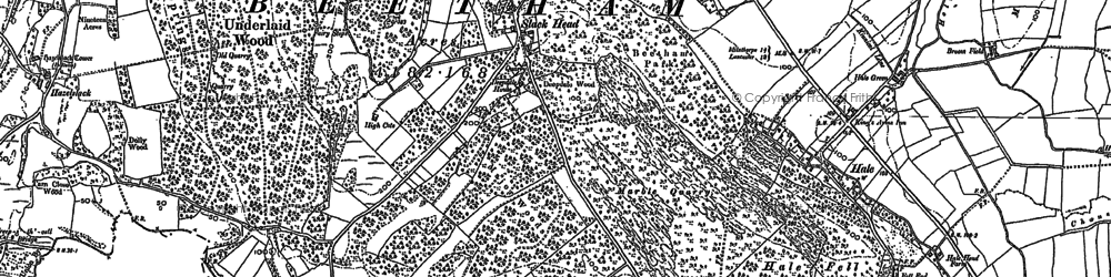 Old map of Leighton Ho in 1911