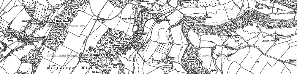 Old map of Wickridge Hill in 1882
