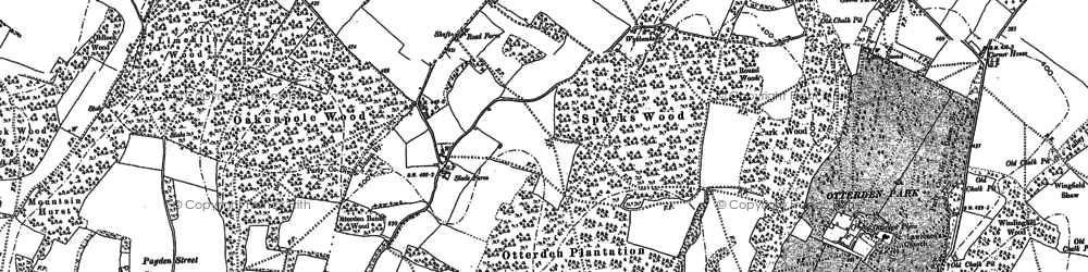 Old map of Wyebanks in 1896