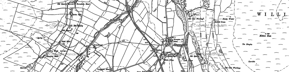 Old map of Aules Hill in 1895