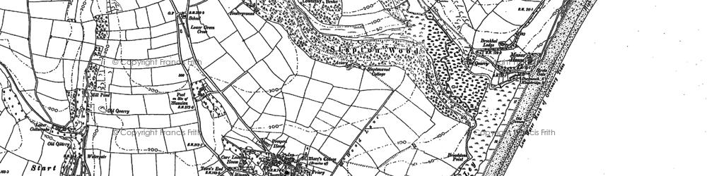 Old map of Whitestone Cross in 1904