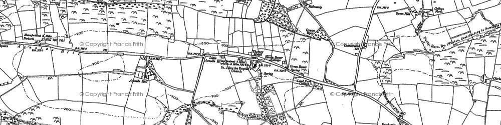 Old map of Wiston Wood in 1887