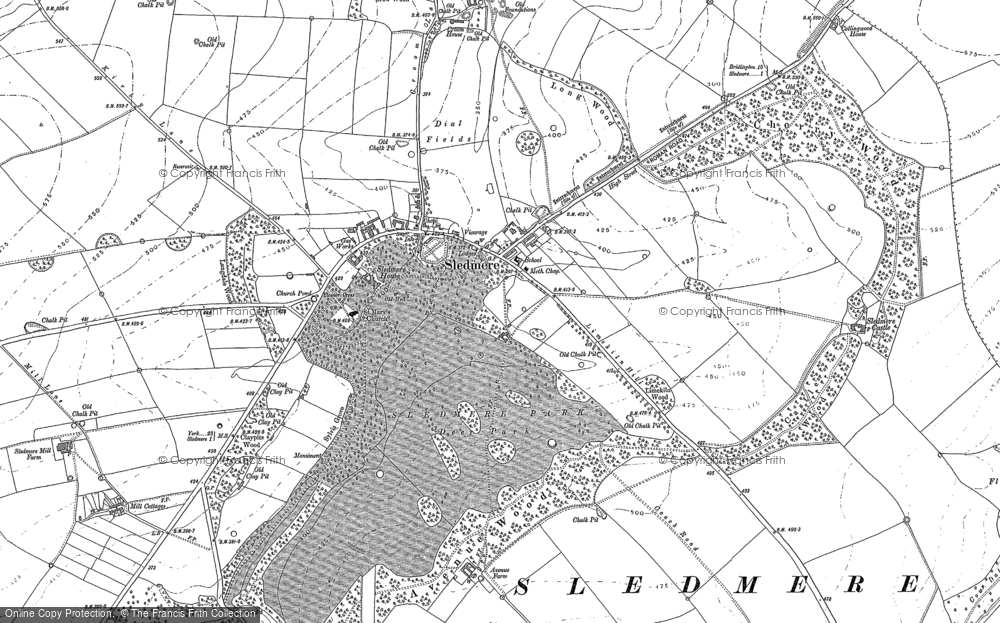 Map of Sledmere, 1888 - 1889
