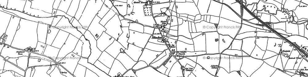Old map of Aspley in 1879