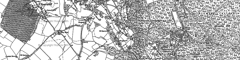 Old map of Clements End in 1878