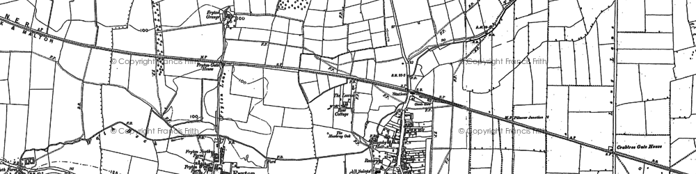 Old map of Slingsby in 1889