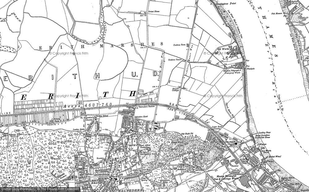 Old Map of Sloane Square, 1894 - 1895 in 1894