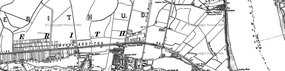 Old map of Sloane Square in 1894