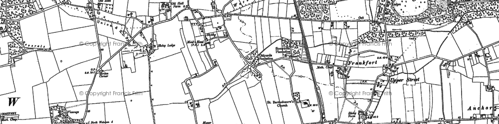 Old map of Worstead Sta in 1884