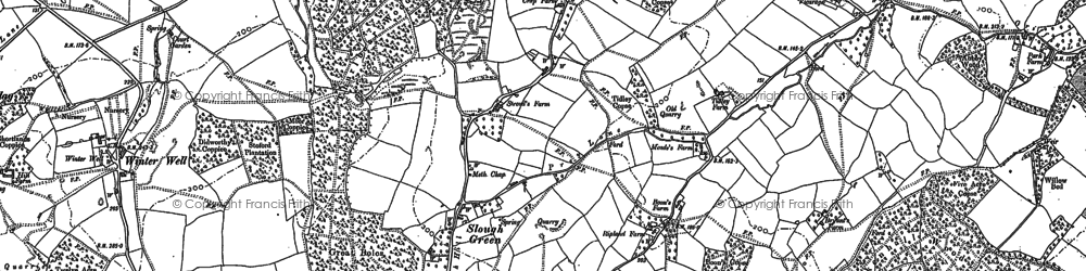 Old map of Badger Street in 1886