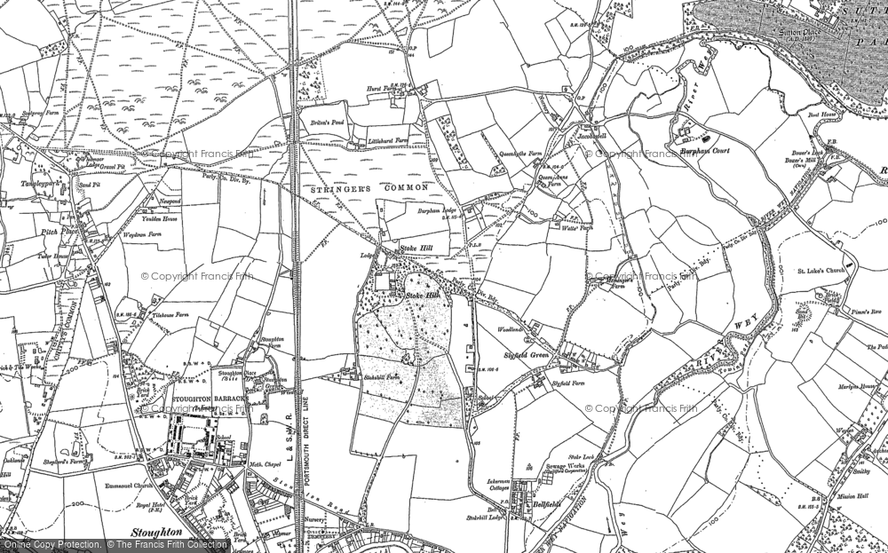 Old Map of Historic Map covering Abbotswood in 1895