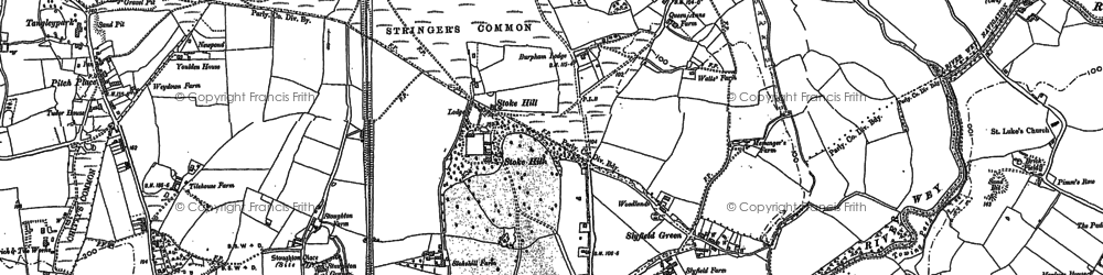 Old map of Abbotswood in 1895