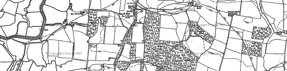 Old map of Woods Mill in 1896