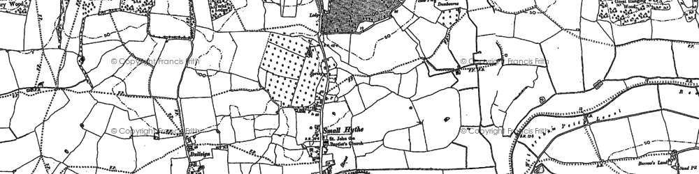 Old map of Small Hythe in 1896