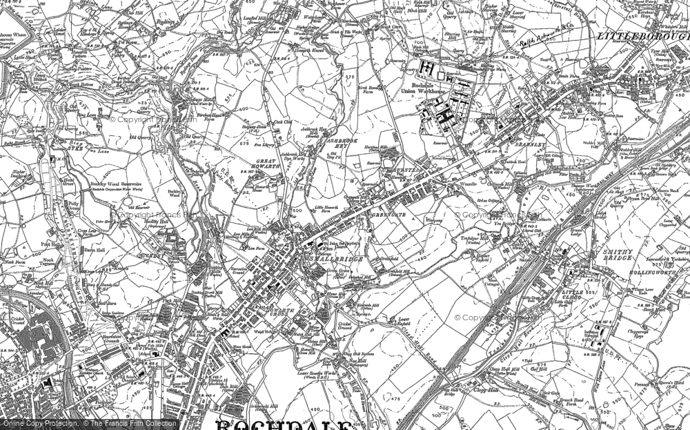 Old Map of Smallbridge, 1891 - 1908 in 1891