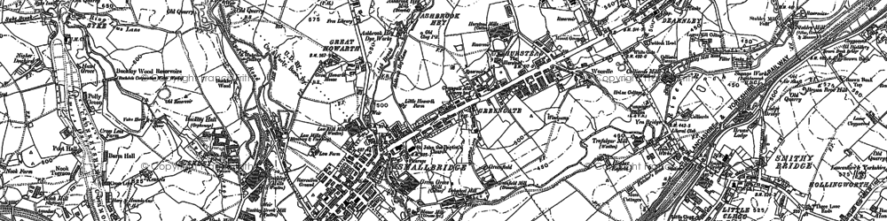 Old map of Smallbridge in 1891
