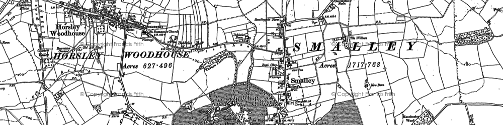Old map of Woodside in 1880