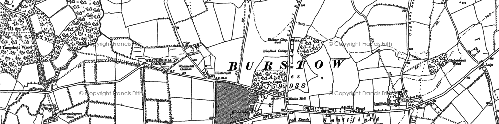 Old map of Weatherhill in 1895