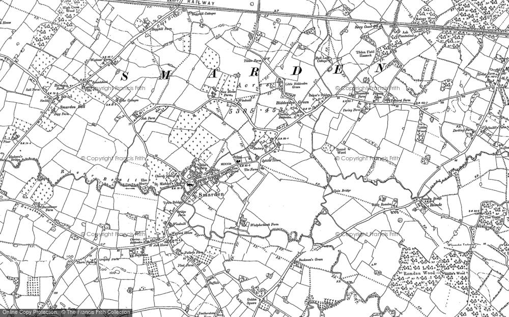 Map of Smarden, 1896