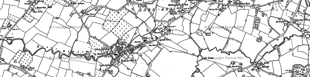 Old map of Langley in 1896