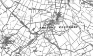 Old Map of Smeeton Westerby, 1885