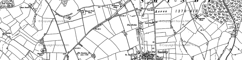 Old map of Annwell Place in 1900