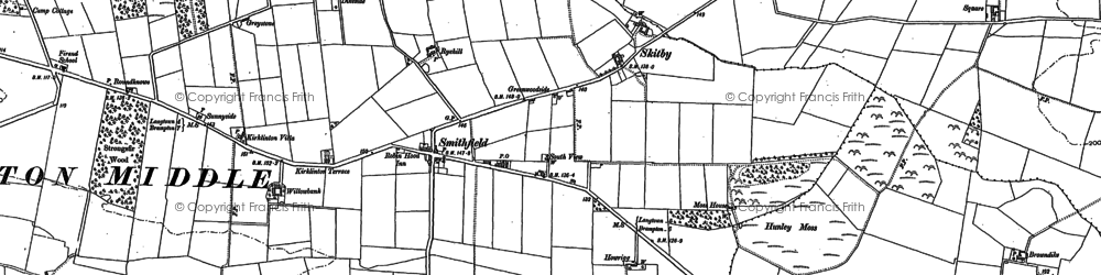 Old map of Willow Bank in 1889